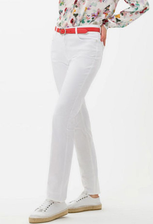 Brax Mary Style in White Short Leg