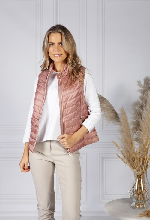 Betty Barclay Dusty Rose Quilted Gilet
