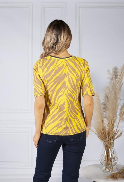 Betty Barclay Yellow Animal Print Top