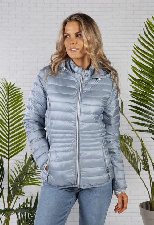 Betty Barclay Light Blue Quilted Coat