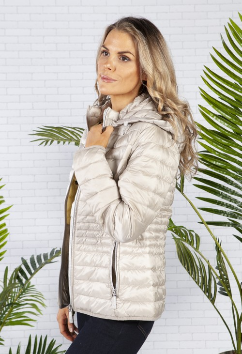 Betty Barclay Champagne Quilted Coat