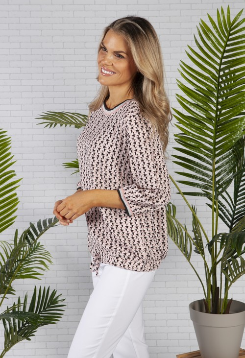 Betty Barclay Pink Abstract Print Top