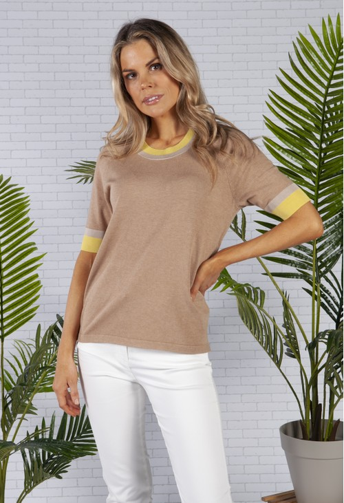 Betty Barclay Camel Knit Top