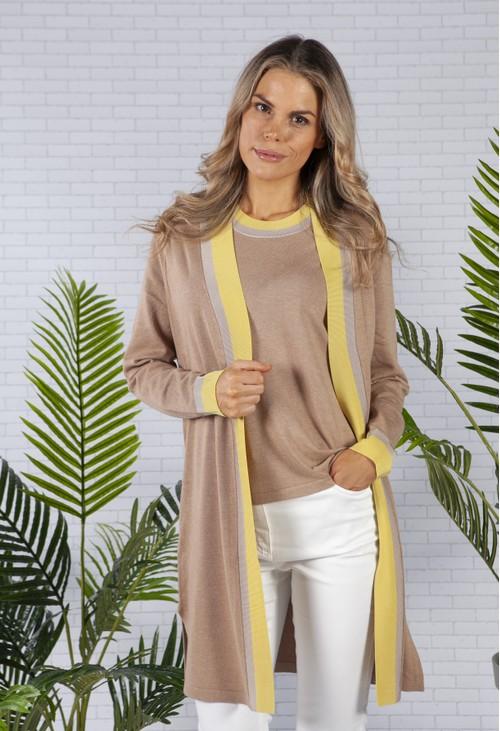 Betty Barclay Camel Knit Cardigan