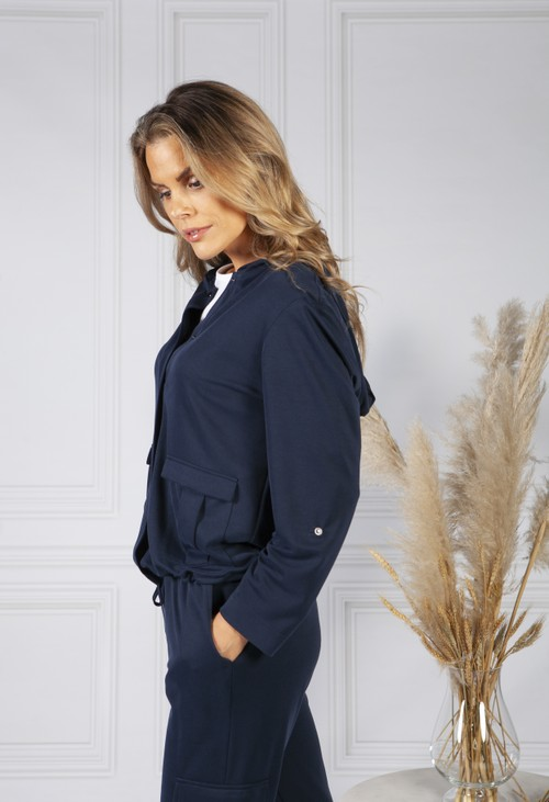 ERFO Navy Button Up Jacket