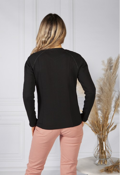 Betty Barclay Black Zip Up Jacket