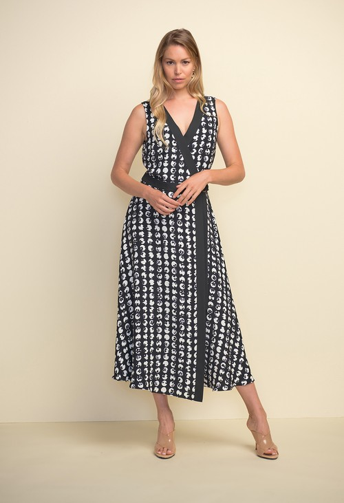 Joseph Ribkoff Printed Wrap Dress