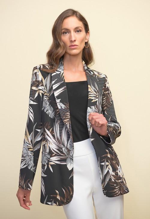 Joseph Ribkoff Palm Print Jacket