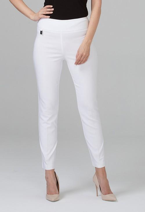 Joseph Ribkoff White Cropped Pants