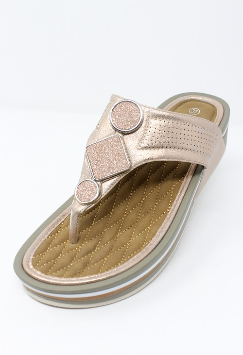 Propét Rose-Gold Toe Post Slider
