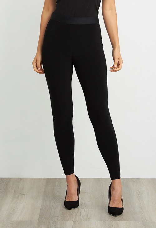 Joseph Ribkoff Black High Waist Leggings