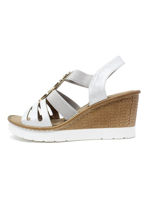 Susst Silver Wedge Sandal