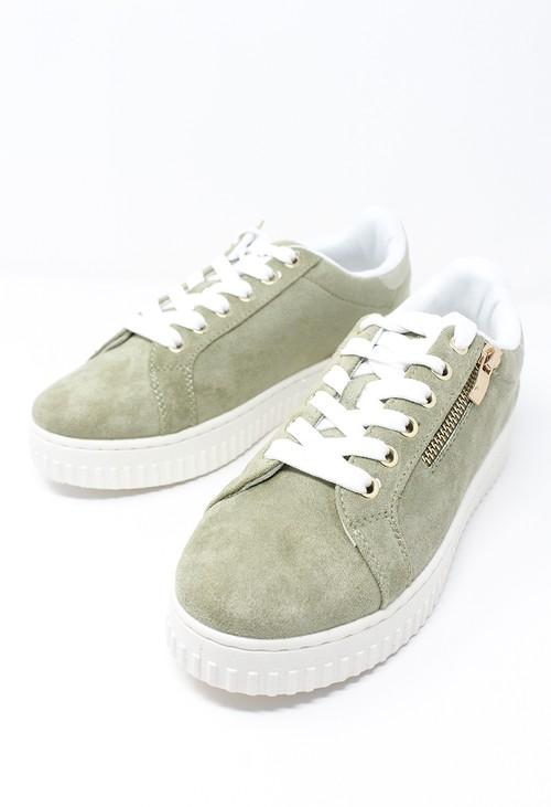 Shoe Lounge Khaki Laced Sneaker