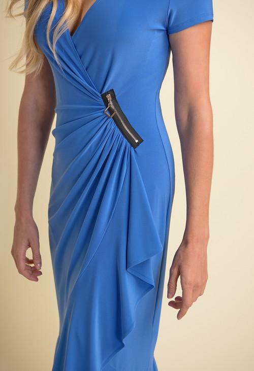 Joseph Ribkoff Sea Blue Zip Detail Dress