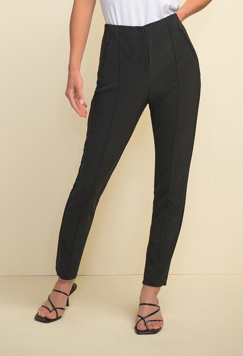 Joseph Ribkoff Black Front Seam Trousers