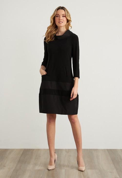 Joseph Ribkoff Black Taffeta Dress Style