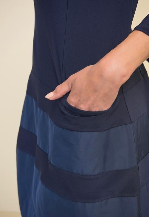 Joseph Ribkoff Midnight Blue Taffeta Dress Style