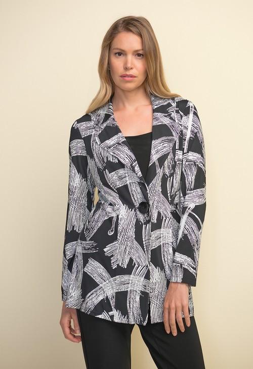Joseph Ribkoff Printed Long Blazer