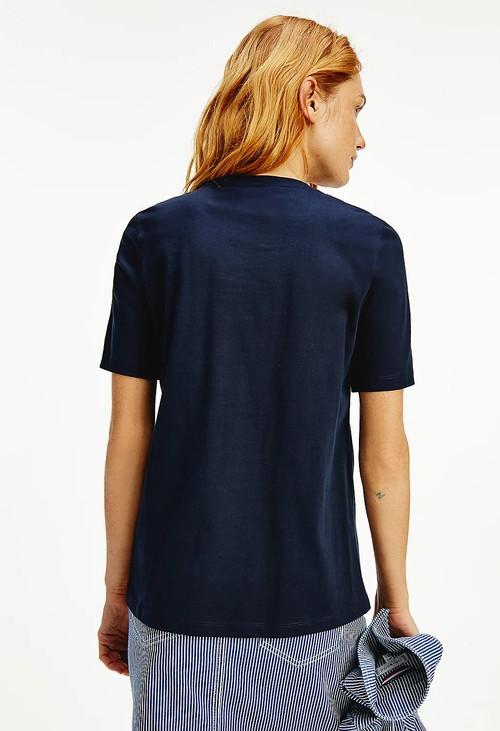 Tommy Hilfiger Logo T-shirt in Navy
