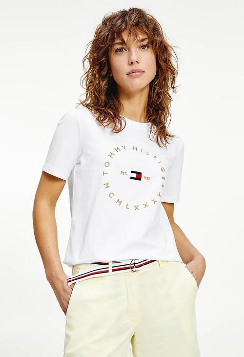 Tommy Hilfiger Logo T-shirt in White