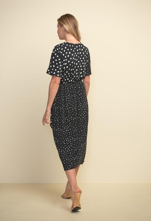 Joseph Ribkoff Polka Dot Short Sleeve Dress