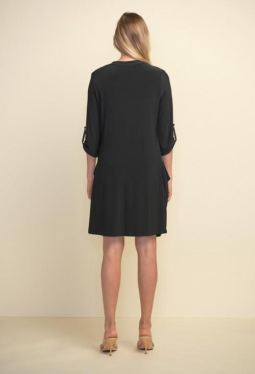 Joseph Ribkoff Black Zip Front Dress