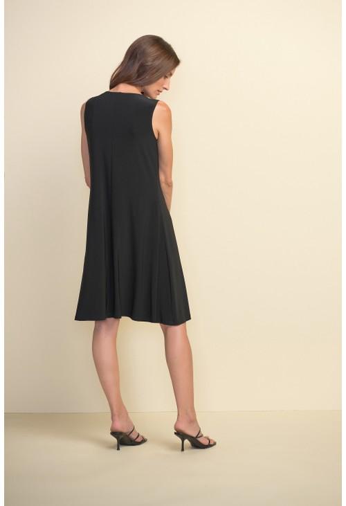 Joseph Ribkoff Grommet Detail A-line Dress