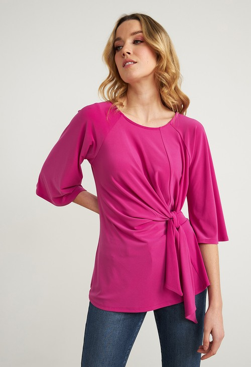 Joseph Ribkoff Orchid Gathered Front Top