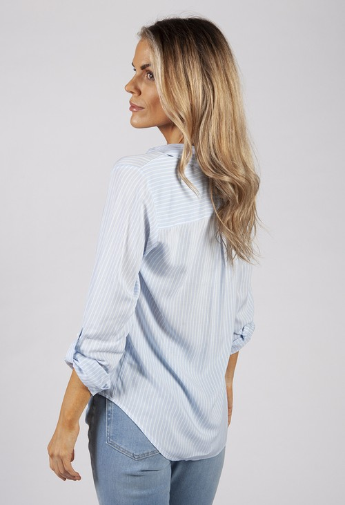 Twist Sky Blue Stripe Shirt