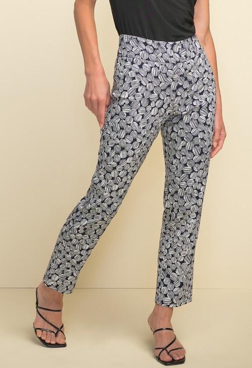 Joseph Ribkoff Printed High-rise Pants