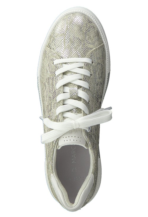 Marco Tozzi Grey Snake Print Laced Trainer