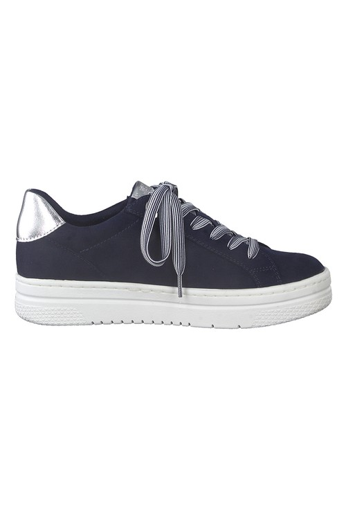 Marco Tozzi Navy laced trainer