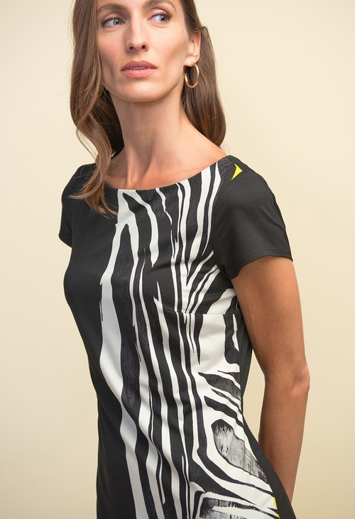 Joseph Ribkoff Animal Print Short Sleeve Dress