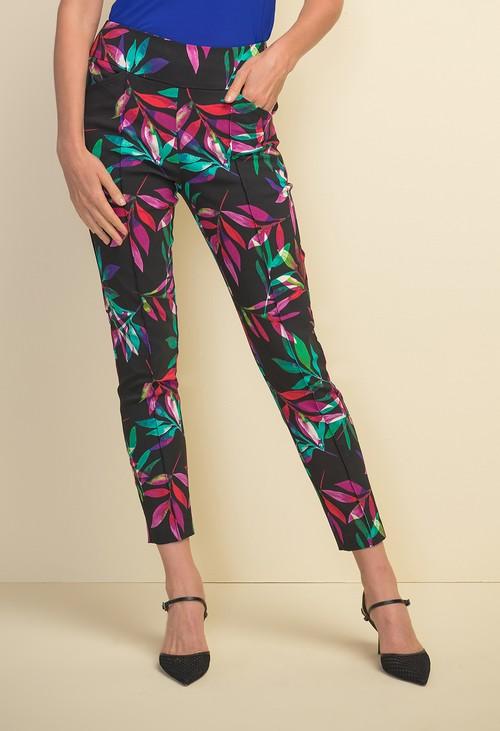 Joseph Ribkoff Front Seam Printed Trousers