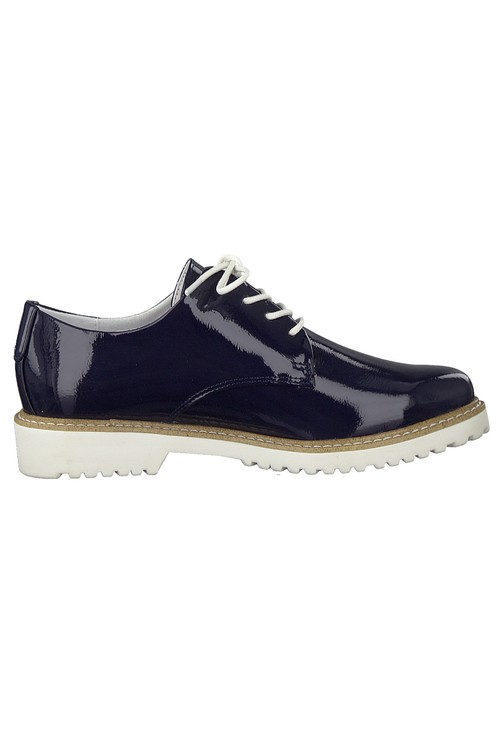 Marco Tozzi Navy Patent laced Loafer