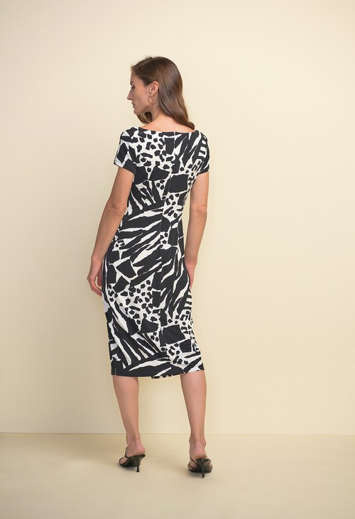 Joseph Ribkoff Animal Print Cap Sleeve Dress