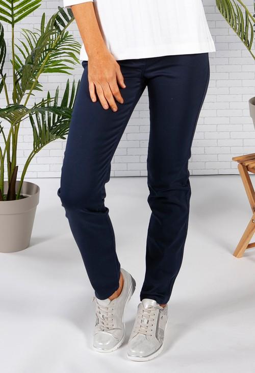 Olsen Mona Slim 5-Pocket Navy Pant