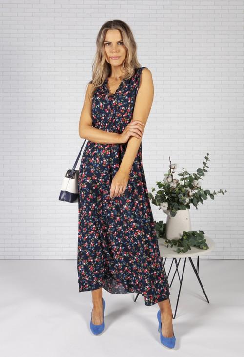 Pamela Scott Rose Print Dress