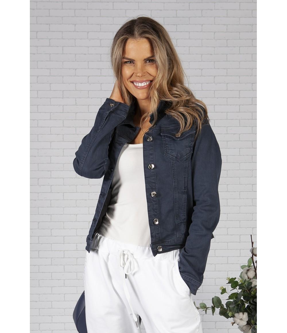 Pamela Scott Navy Denim Jacket