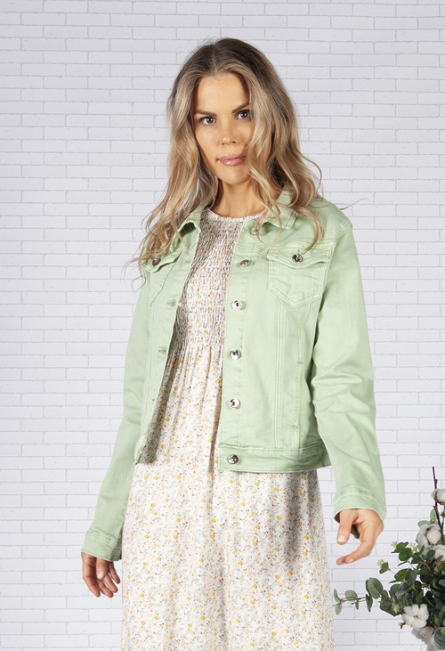 Pamela Scott Sage Denim Jacket