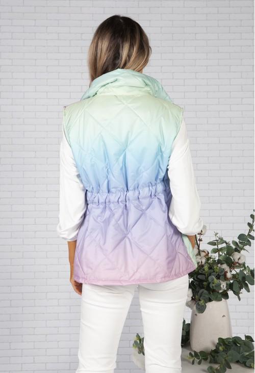 Zapara Lilac Faded Rainbow Gilet