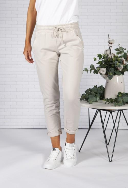 Pamela Scott *Pre-Order* Stone Joggers with Side Zip Pockets