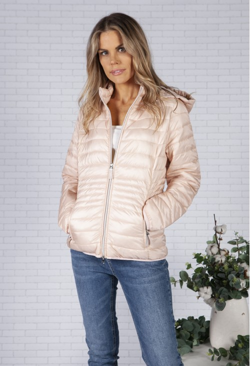 Betty Barclay Dusty Rose Quilted Coat with Hood