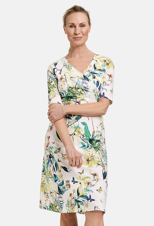 Gerry Weber Wrap-effect dress in a floral print