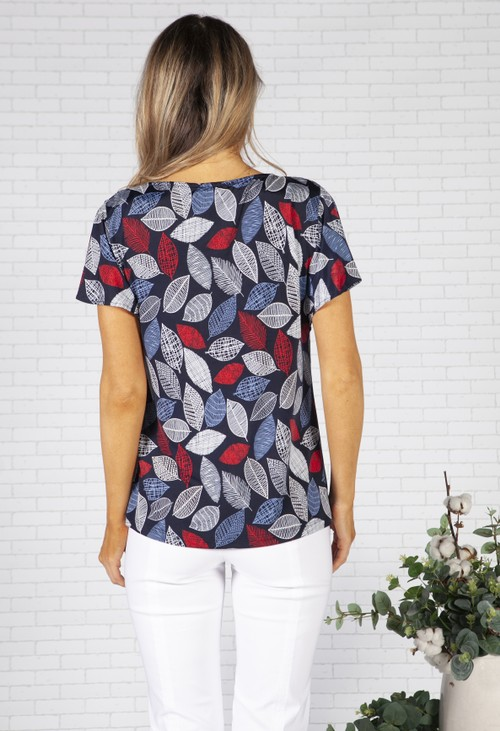 Twist Nautical Leaf Design and Necklace Top