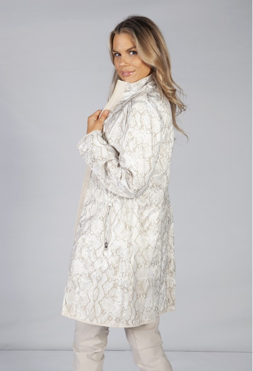 Betty Barclay ANIMAL PRINT REVERSIBLE COAT BEIGE