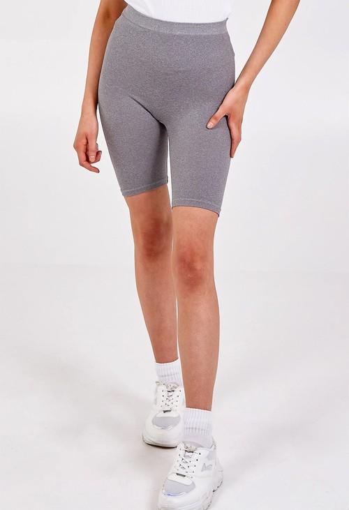 Pamela Scott Basic Grey Cycling Shorts