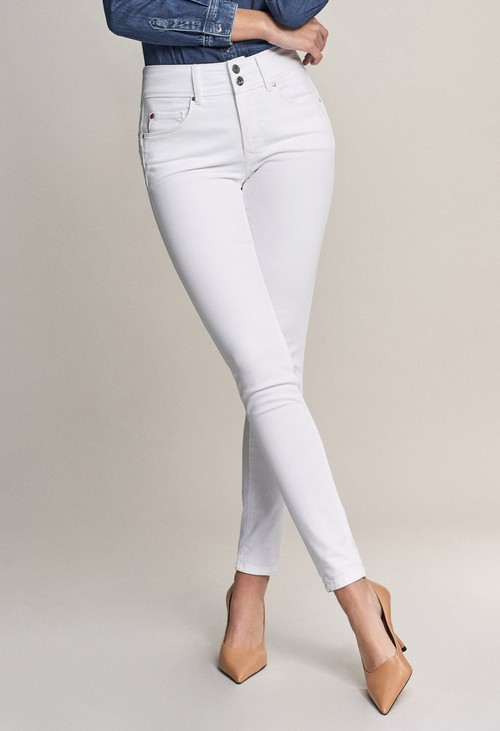 Salsa Jeans 30 Leg Secret PUSH in Skinny White Jeans