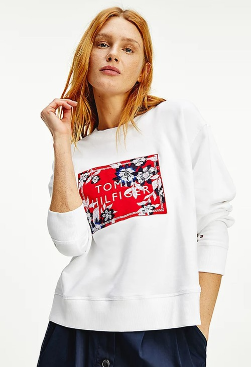 Tommy Hilfiger Floral Logo Relaxed Fit Sweatshirt