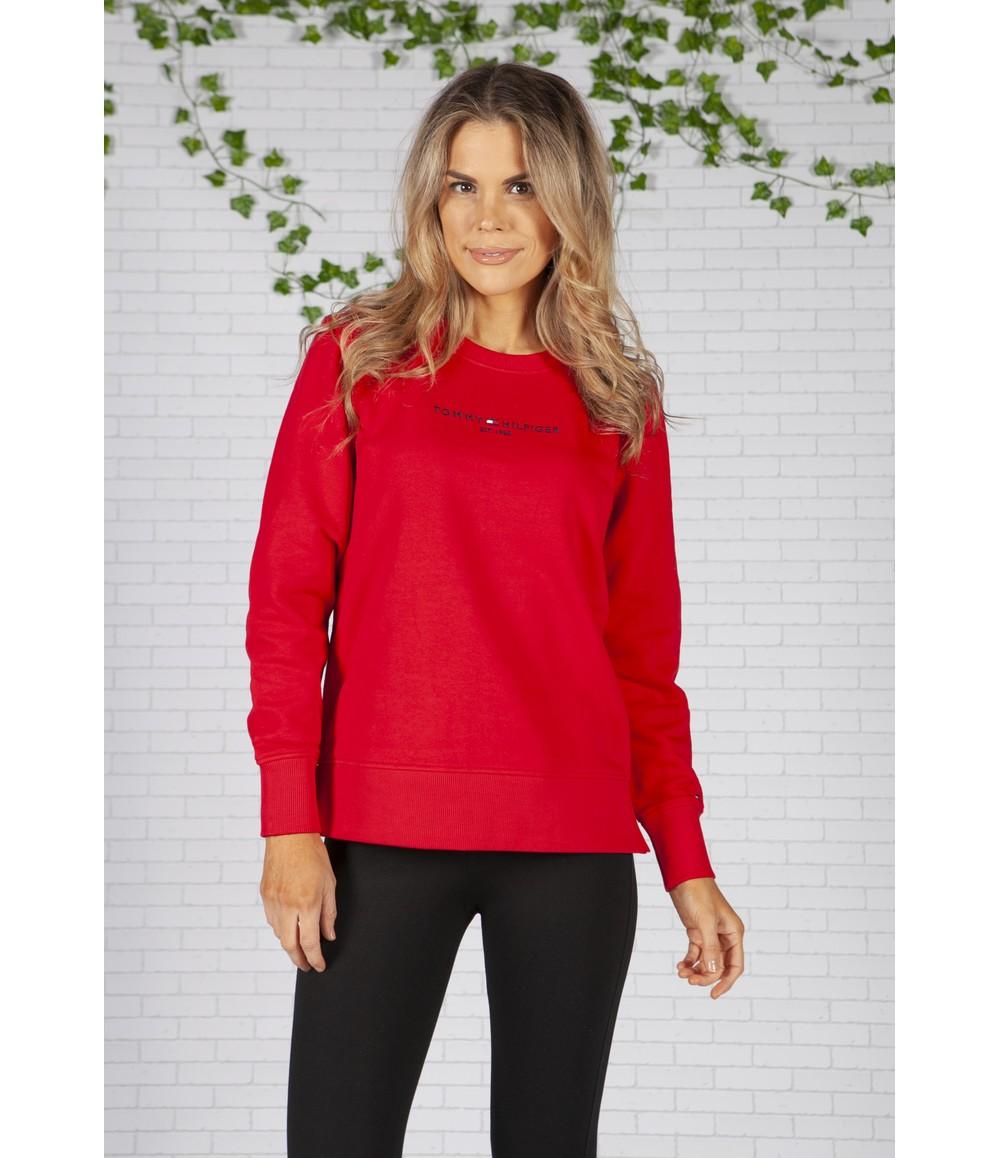 Tommy Hilfiger Primary Red Essential Pure Cotton Sweatshirt